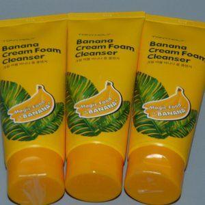 (3)pcs TonyMoly Tony Moly Banana Foaming Cleanser